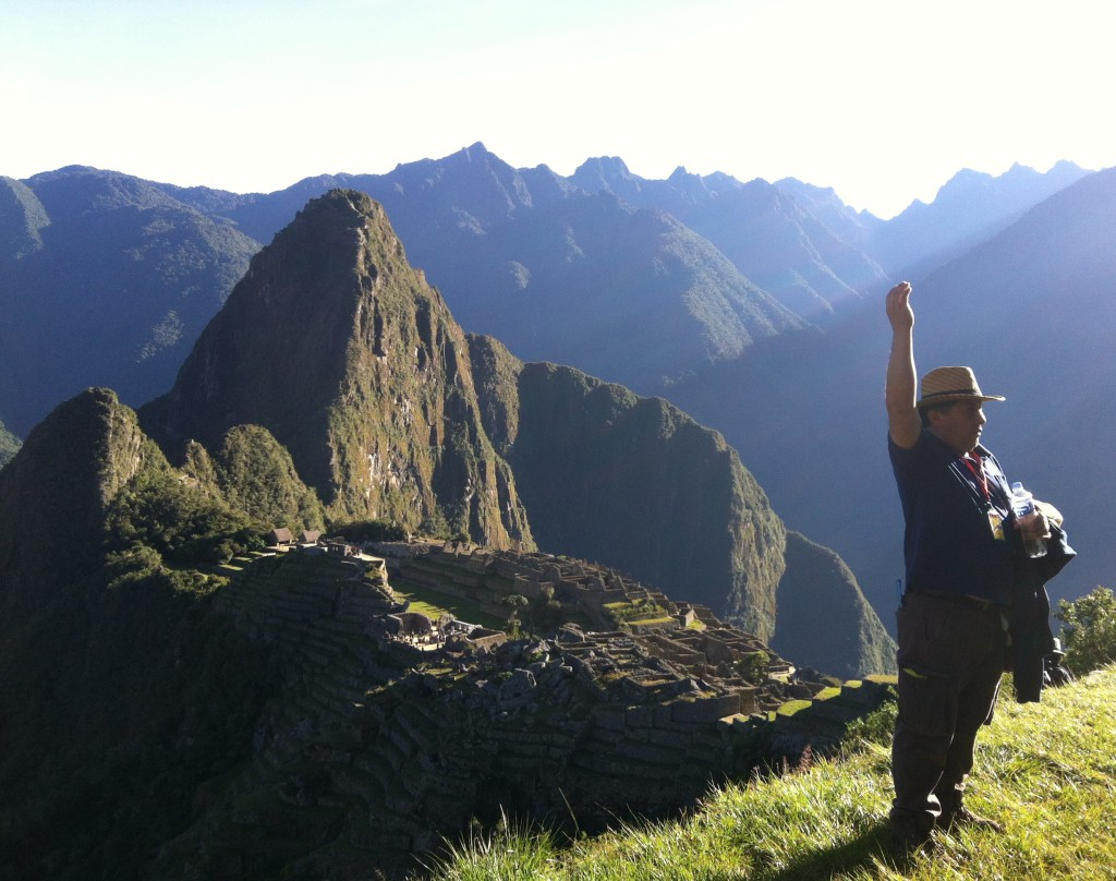 Amaru Guiding Proceedings at Machu Picchu