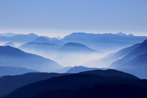 Stunning blue landscape